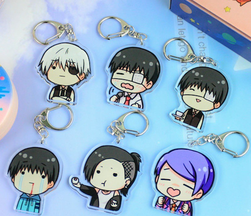 (Random one) Y&P Tokyo Ghoul Double-sided Transparent Acrylic Keychain