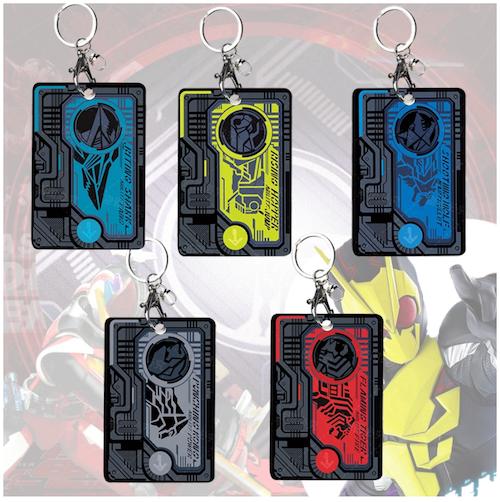 Anime Kamen Rider Zero-One Den-O Rising Hopper Cosplay Acrylic Student Card Case Cards Holder Keychain Bag's Pendant
